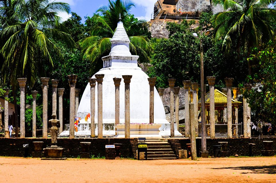Ambasthala Dagaba, a small stupa surrounded with stone pillars. |©Hashan Gunasekara