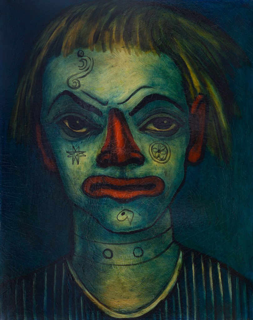 Francis Picabia. Le Clown Fratellini (Fratellini Clown). 1937–38. Oil on canvas, 36 1/4 × 28 3/4″ (92 × 73 cm). Private collection. © 2016 Artist Rights Society (ARS), New York/ADAGP, Paris