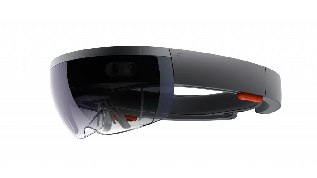 Microsoft's HoloLens. | Courtesy Microsoft.