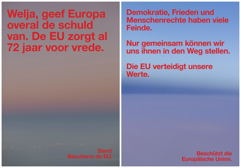 Protect the European Union Posters| © Jop van Bennekom, Gert Jonkers, Wolfgang Tillmans
