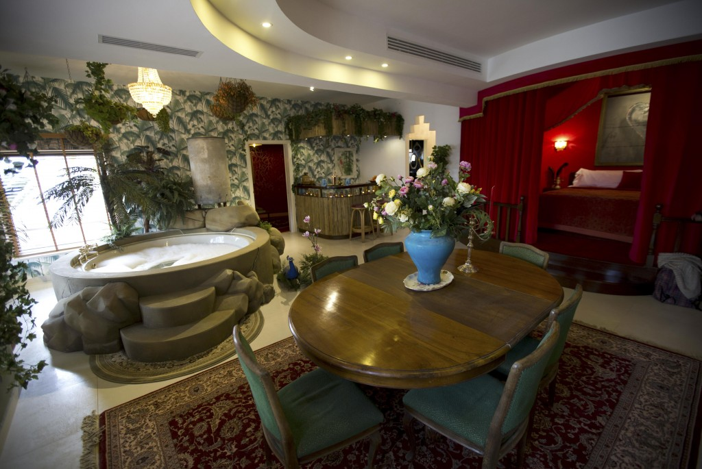 "The presidential suite of the The Walled Off Hotel"" in the West Bank city of Bethlehem 