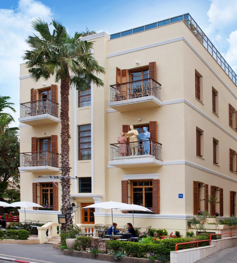 The Rothschild Hotel is one of the most photographed buildings in Tel Aviv