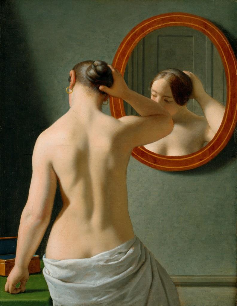 C.W Eckersberg, Kvinde Foran et Spejl, 1841, The Hirschsprung Collection