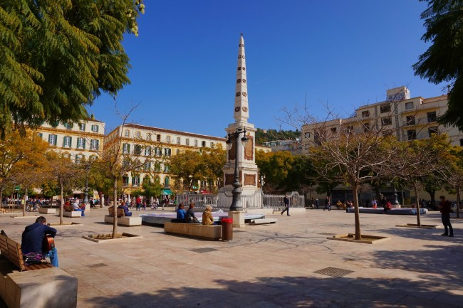 Plaza Merced, one of Malaga´s lovlliest squares; Encarni Novillo