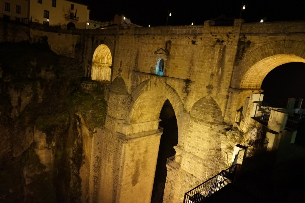 "Ronda´s ""New Bridge"" at night; Encarni Novillo"