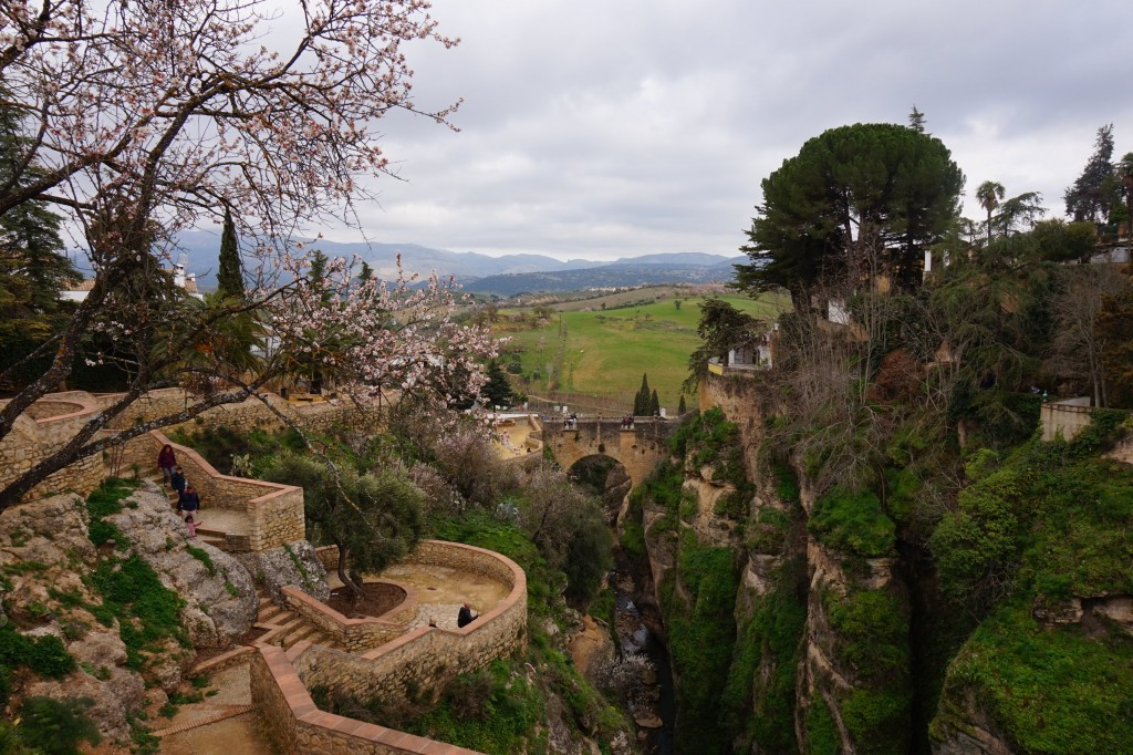 "One of the pathways leading down into Ronda´s ""El Tajo"" gorge; Encar Novillo"