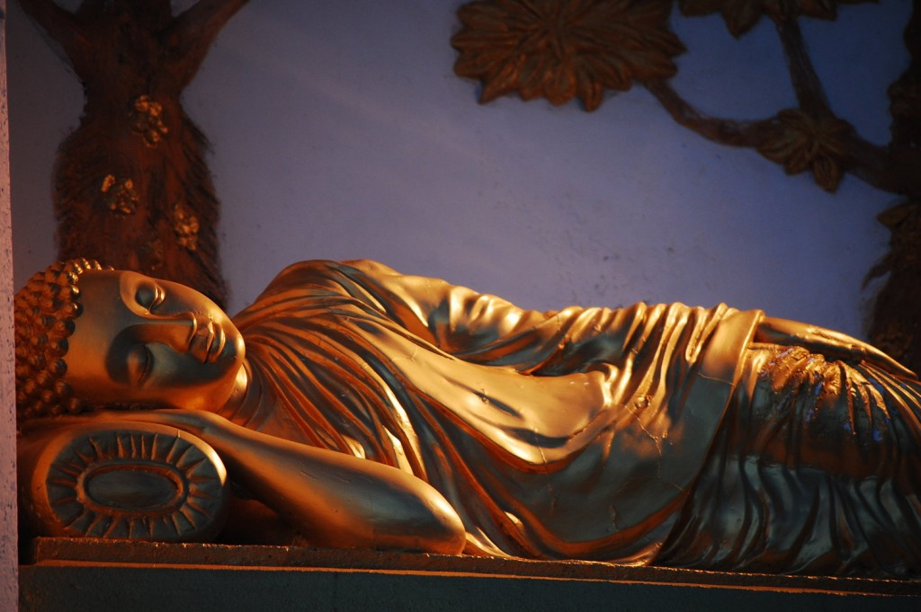 Statue of the Lord Buddha inside the Peace Pagoda. |©Avindi Perera