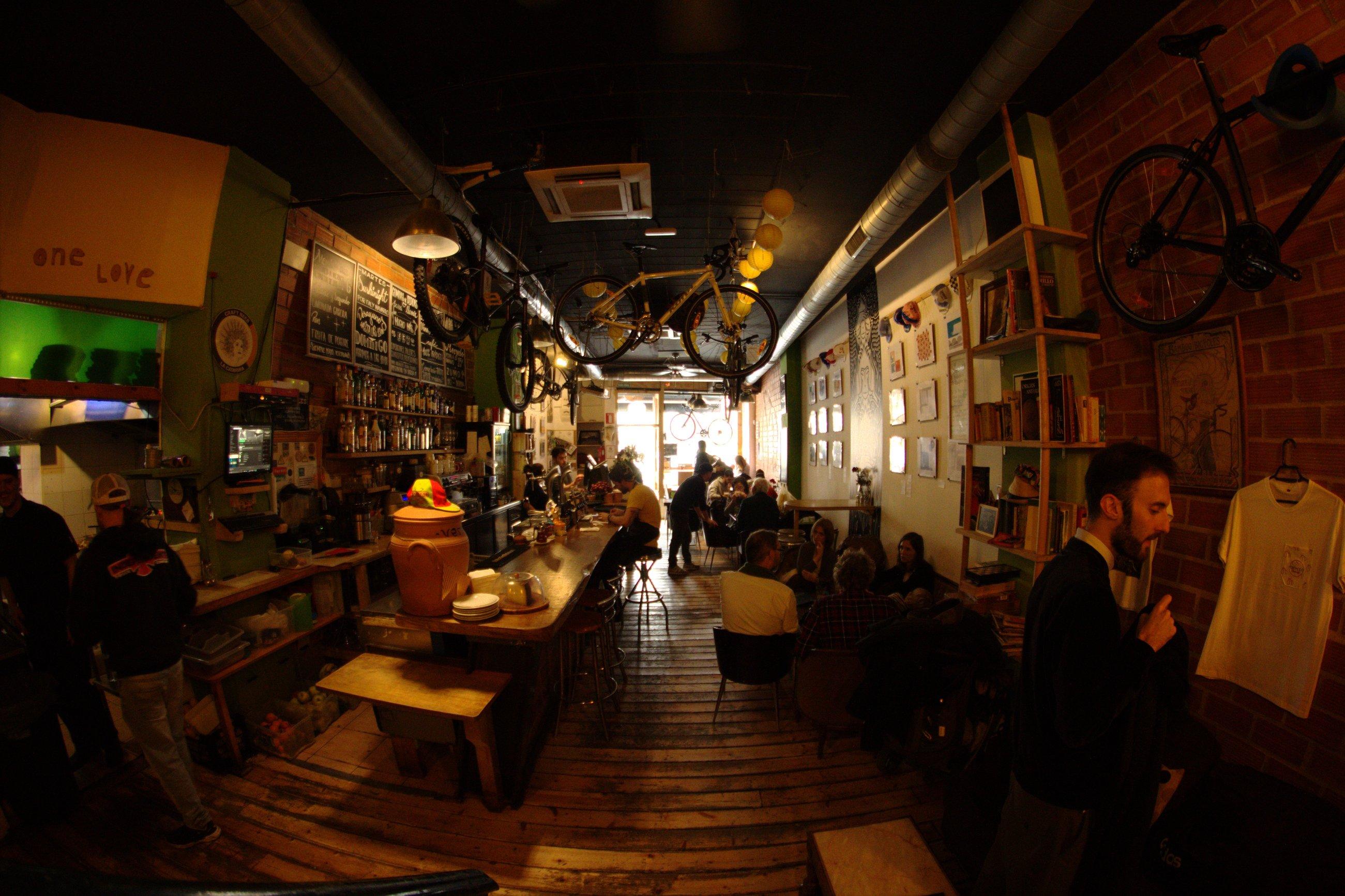 Recyclo Bike Café, Malaga; courtesy of Recyclo Bike Cafe