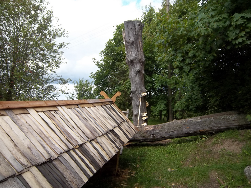 Roof at the Orvidas Homestead |©Leutha/Wikimedia Commons