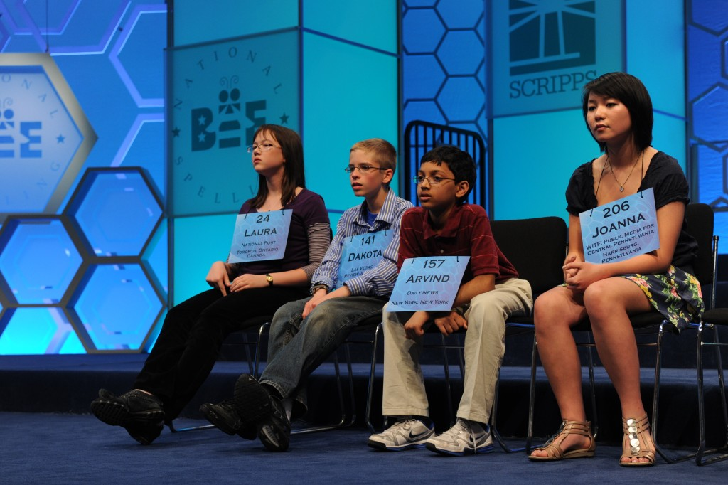 Some of the contestants in the Scripps National Spelling Bee, 2011 | © Scripps National Spelling Bee