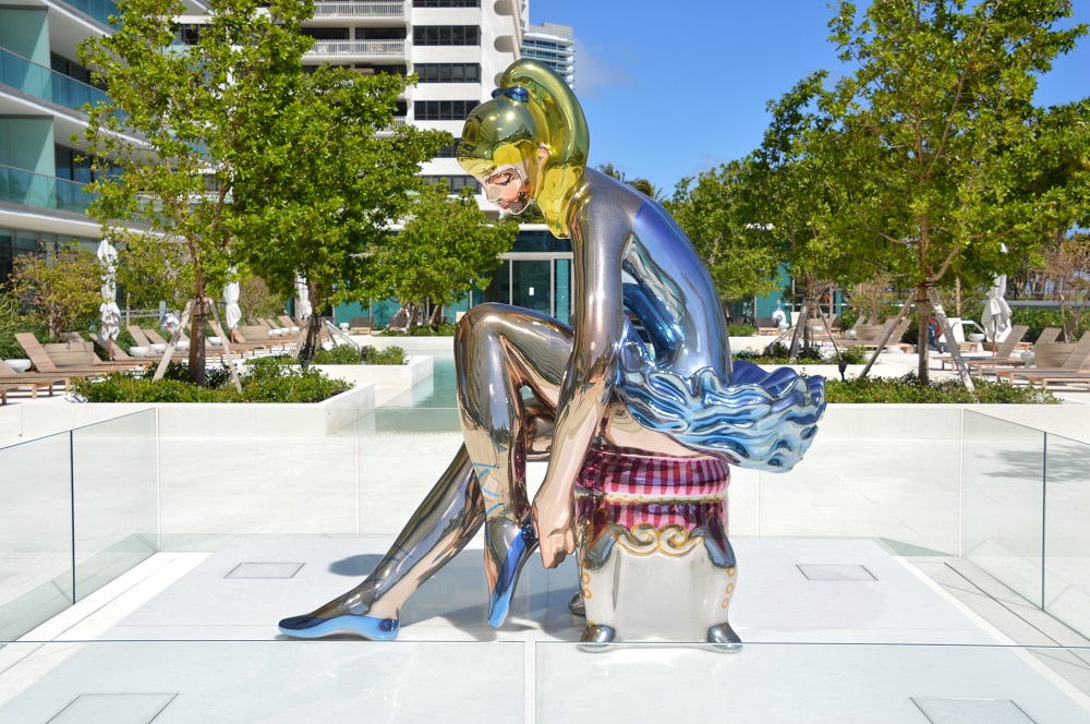 """Seated Ballerina"" by Jeff Koons; Photo Credit 