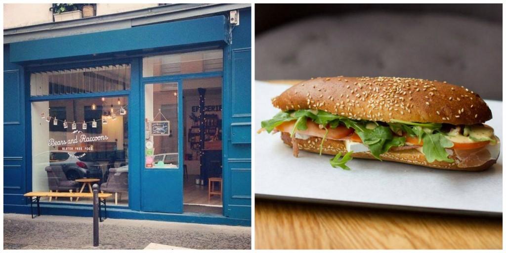 Shopfront and Hungry Bear sandwich at Bears & Raccoons │ Courtesy of Bears & Raccoons