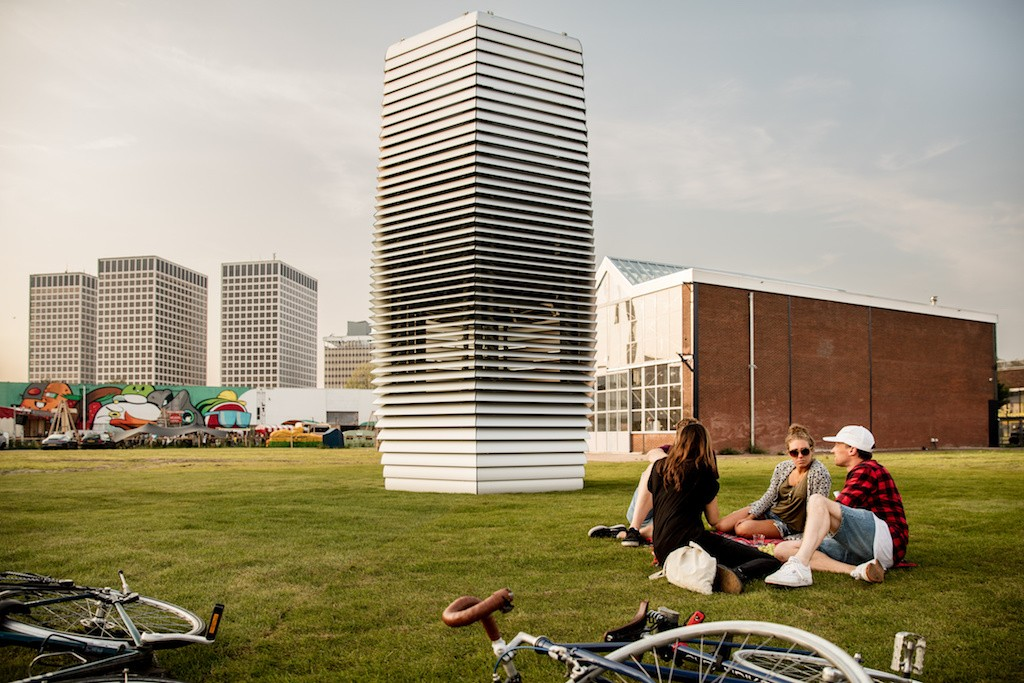 Smog Free Tower in Rotterdam | Courtesy of Studio Roosegaarde