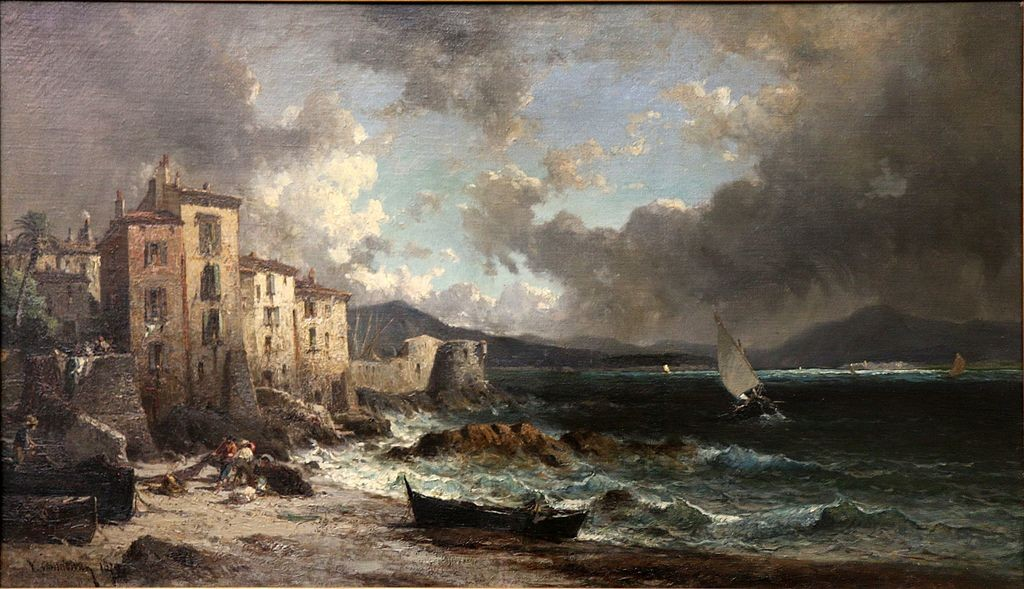 An oil painting of La Ponche in the 1800s by Vincent Joseph François Courdouan | © WikiCommons