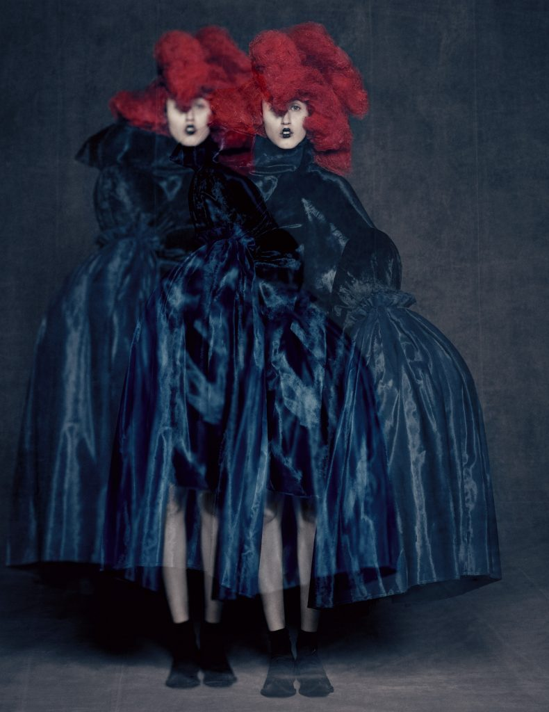 Rei Kawakubo (Japanese, born 1942) for Comme des Garçons (Japanese, founded 1969), Blue Witch, spring/summer 2016; Courtesy of Comme des Garçons. Photograph by © Paolo Roversi; Courtesy of The Metropolitan Museum of Art