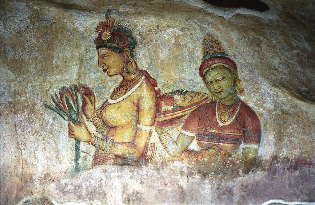 Sigiriya Frescoes | © Jerzy Strzelecki / WikiCommons