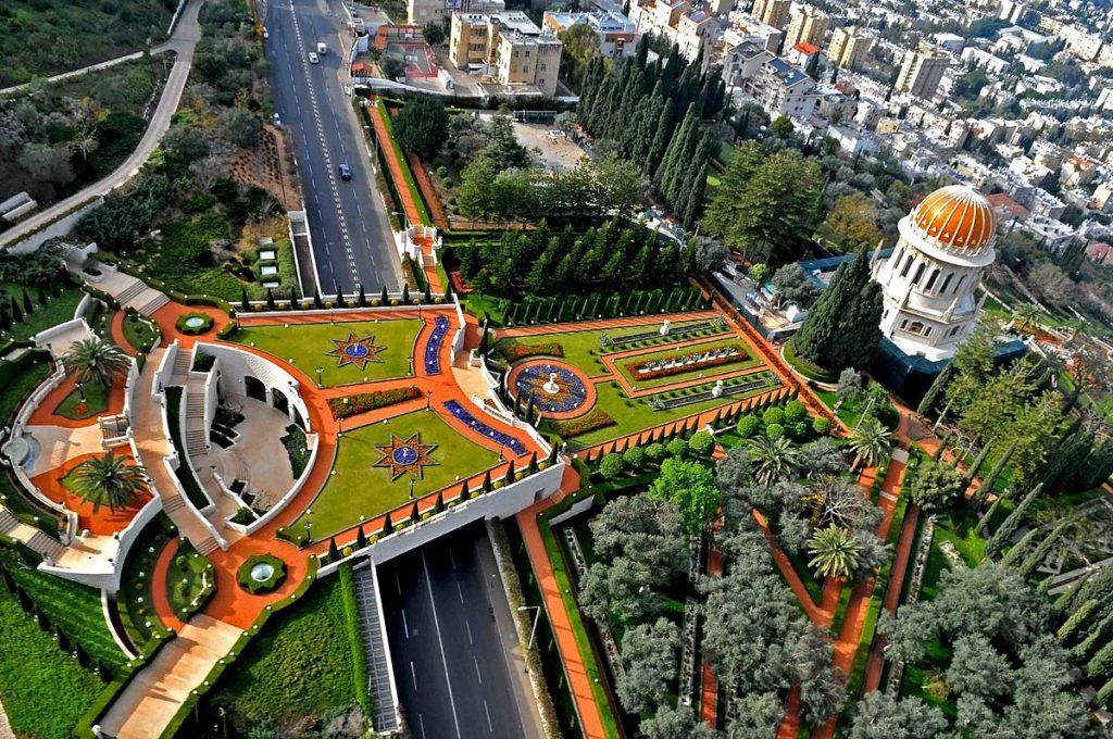 The gardens and Shrine of the Báb in Haifa | © Zvi Roger, Haifa Municipality / Wikimedia Commons