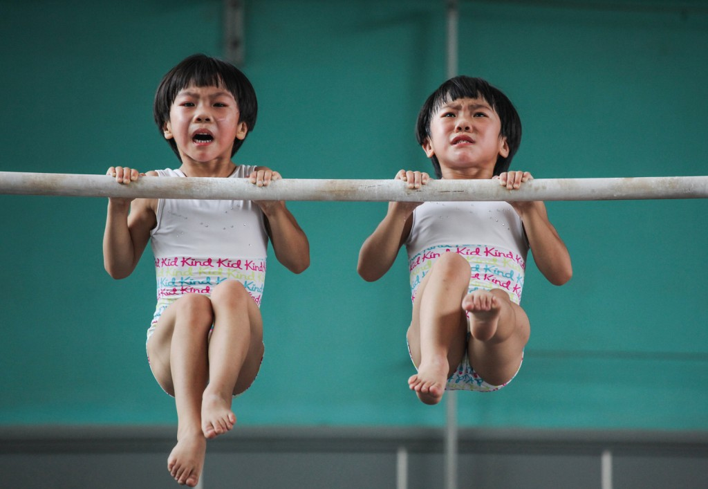 Yuan Peng, The twins' gymnastics dream, 2017 | © Yuan Peng, China, 1st Place, Professional, Sport, 2017 Sony World Photography Awards