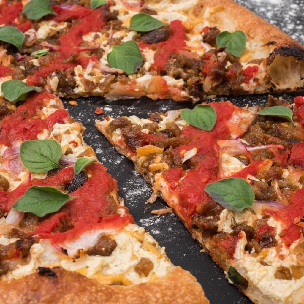 Vegan Pizza Courtesy of Blackbird Pizzeria