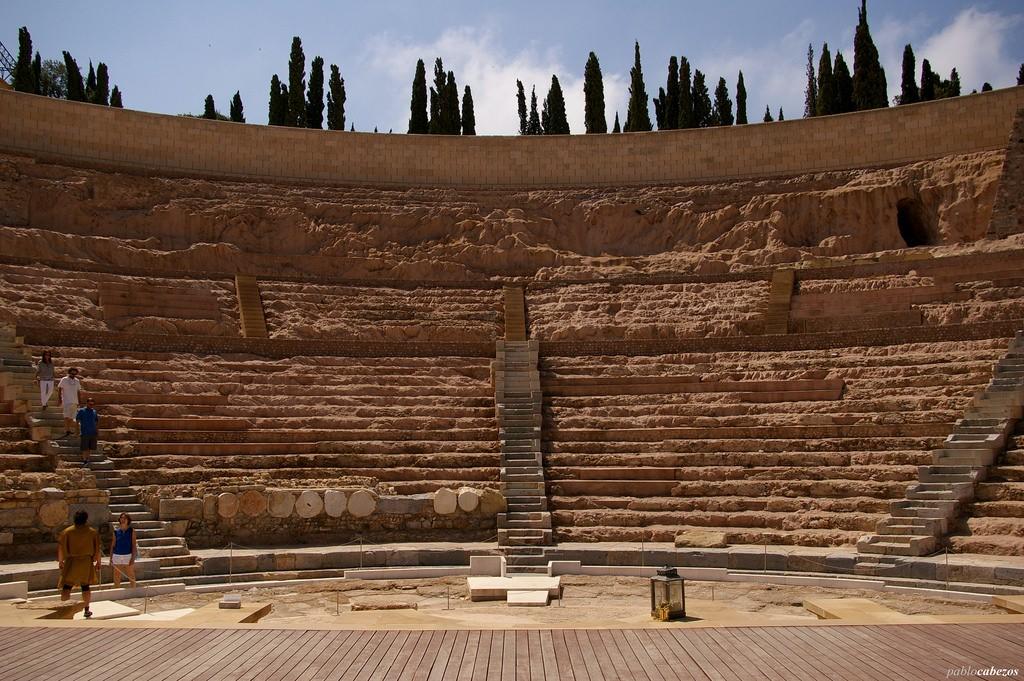 The Roman Theatre in Cartagena, Spain. Photo flickr/pavelcab