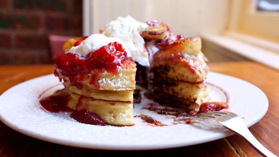 Nutella Pancakes, Courtesy of Bubbys