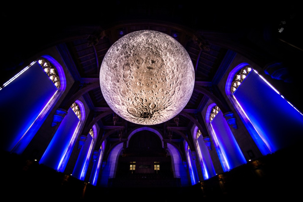 Museum of the Moon in the University of Bristol Great Hall, Bristol | Photo © Simon Galloway
