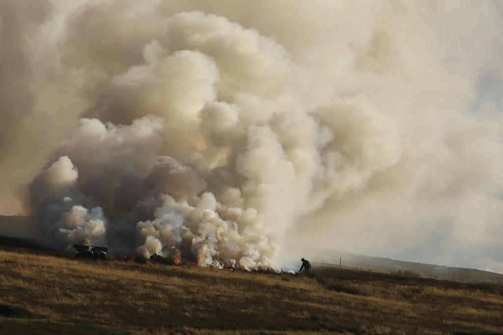 'Firestarter', Heather burning in the Lammermuir Hills | © Alan Johnstone