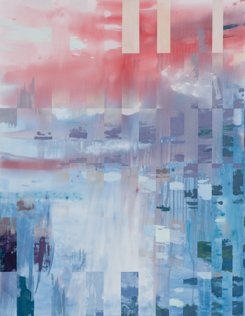 One of Michelle's new paintings entitled 'Overlap.'