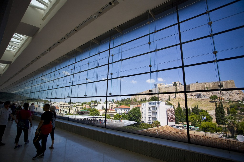 View of the Acropolis from inside the Acropolis Museum, Athens | © Mike Norton/Flickr
