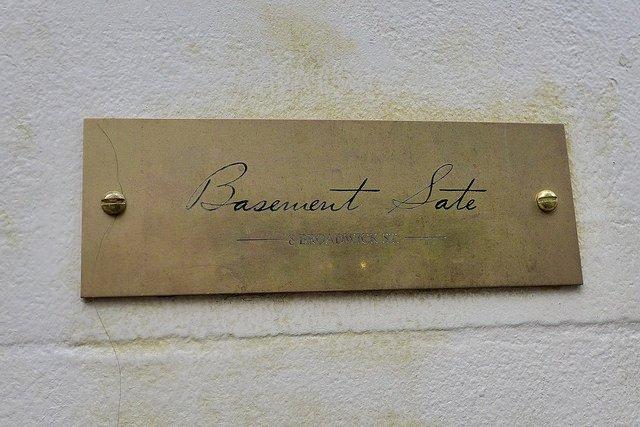 Basement Sate nameplate