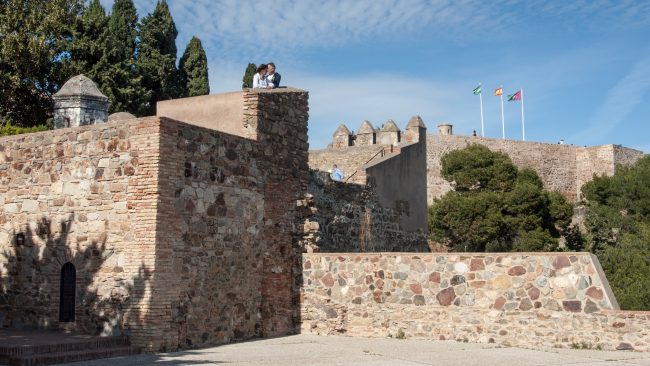 "<a href=""https://www.flickr.com/photos/pollobarca/"">The turrets of Málaga's Gibralfaro castle 