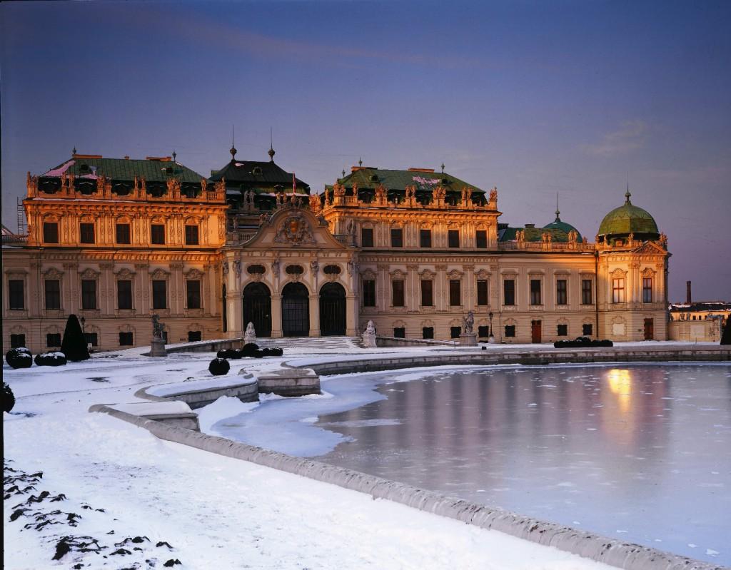 Museums: Belvedere Palace, winter ©WienTourismus/Popp & Hackner