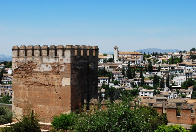 The rooftops of Albaicin, as seen from the Alhambra; Samuele Macciò, flickr