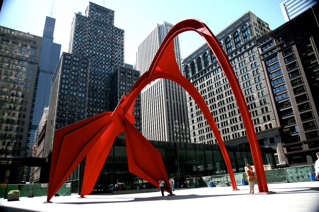 Alexander Calder's Flamingo, a great example of Chicago Public Art | © (vincent desjardins)/Flickr