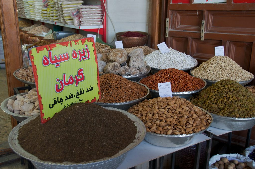 A spice vendor sells cumin, which Kerman is famous for | © A.Davey / Flickr