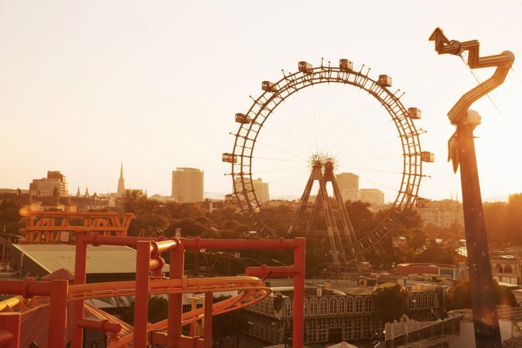 Giant Ferries wheel in the Prater park@ WienTourismus/Peter Rigaud