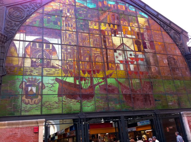 """<a href="""" https://www.flickr.com/photos/andynash/"""">The stained glass window at Atarazanas market 