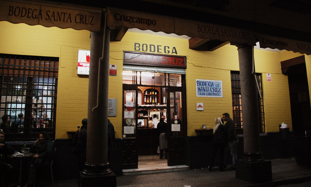 "Bodega Santa Cruz is known locally as ""The Columns""; LWYang, flickr"