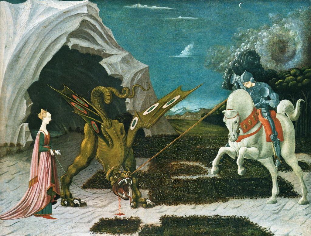 Paolo Uccello - Saint George, the Princess, and the Dragon (1460) © cea +