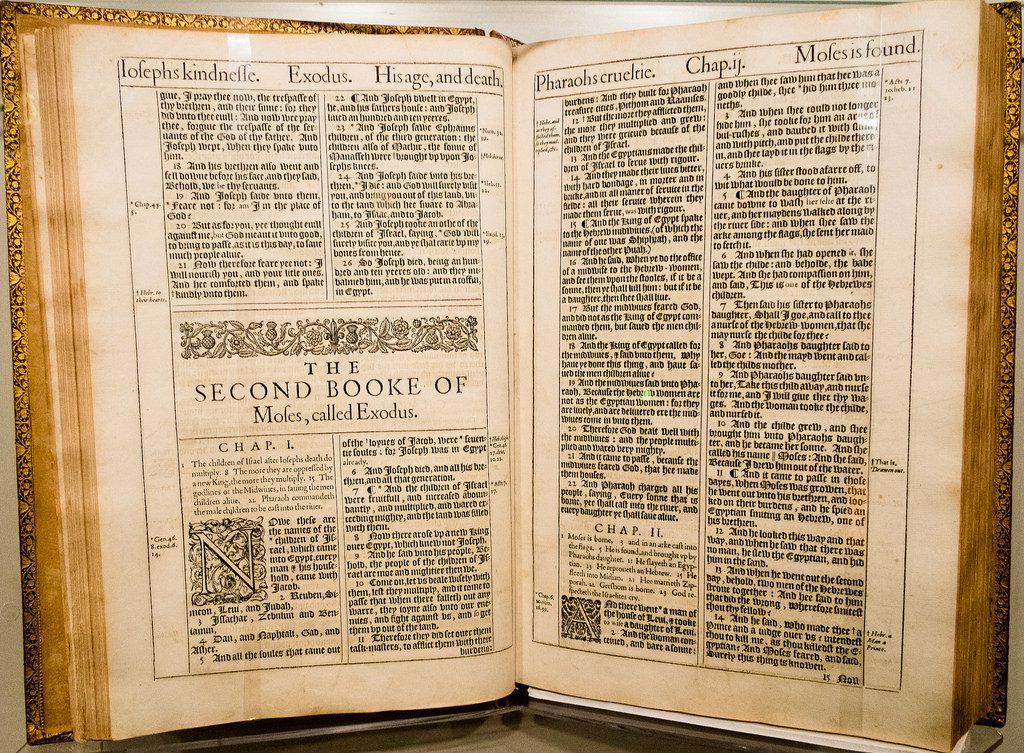 A first edition King James Bible from 1611, just one of the many manuscripts in the Harry Ransom Center collection | © Earl McGehee / Flickr