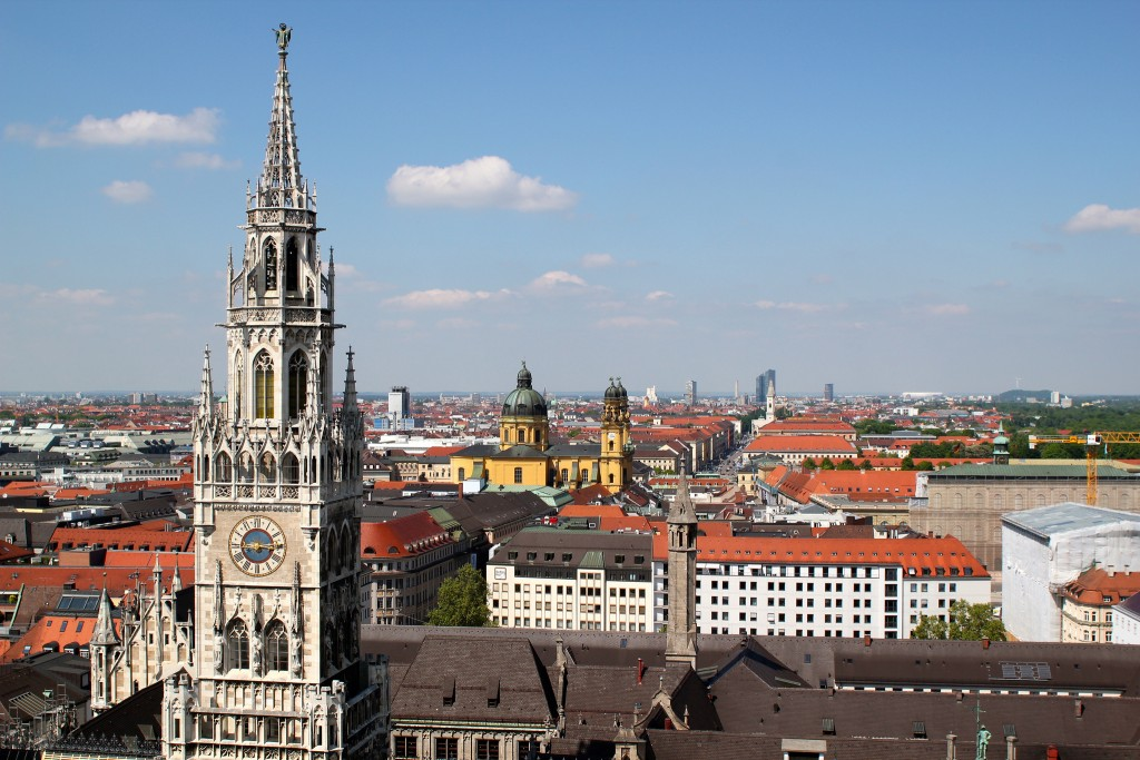 Get a view over Munich's rooftops from St Peter's Church © Sarah-Rose / Flickr