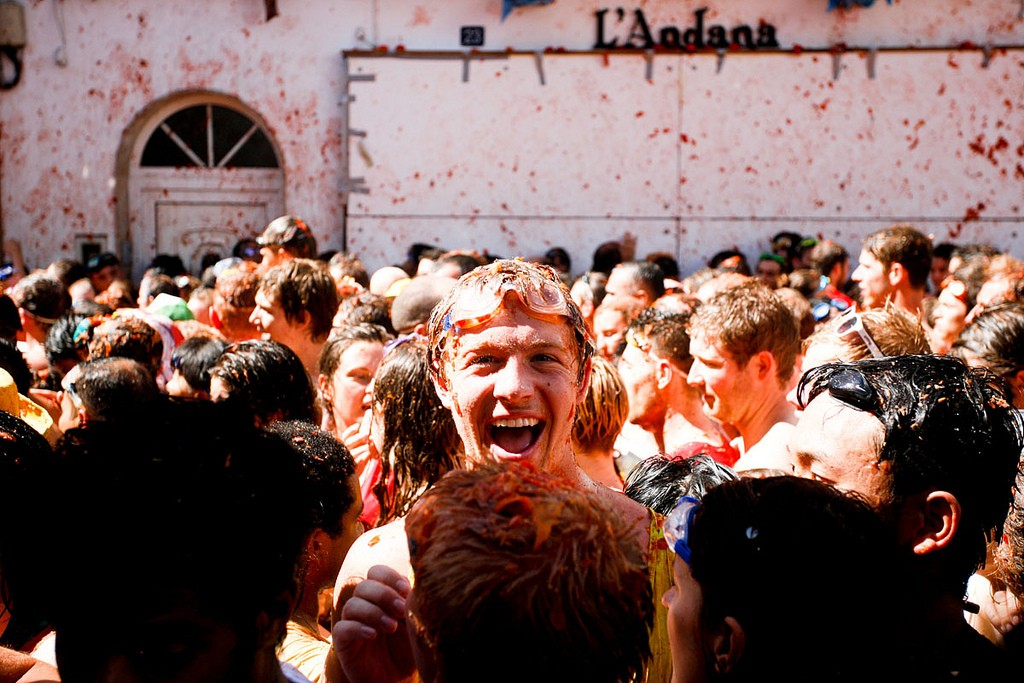 La Tomatina. Photo: Flickr/Andy Bennett