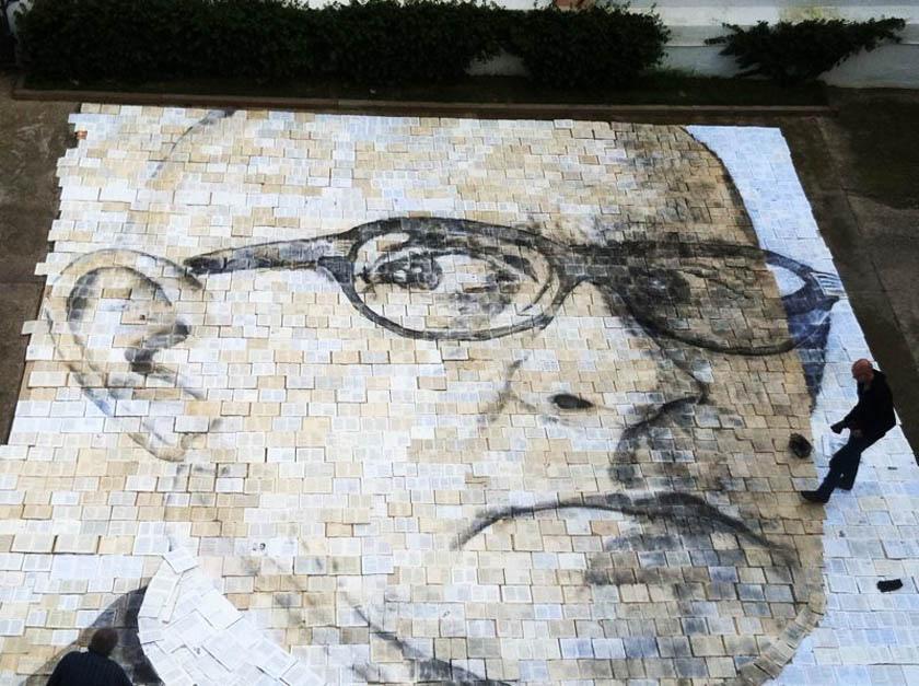 A tribute to Salvador Espriu by Cuban-American artist Jorge Rodriguez-Gerada © www.jorgerodriguezgerada.com