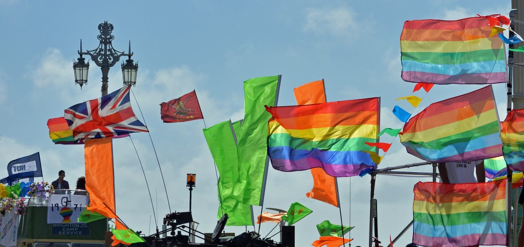 Flags celebrating unity at Brighton Pride | © Vicki Burton / Flickr