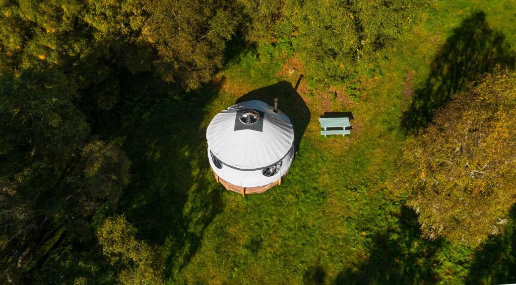 Aerial View Of Aspen Yurt | Courtesy Of Black Isle Yurts