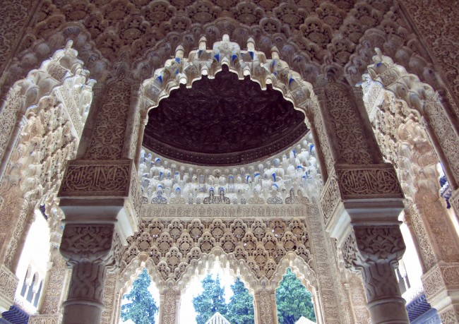 "<a href="" https://pixabay.com/p-2163513/?no_redirect""> Breathtaking interiors abound in the Alhambra's Nasrid palaces 