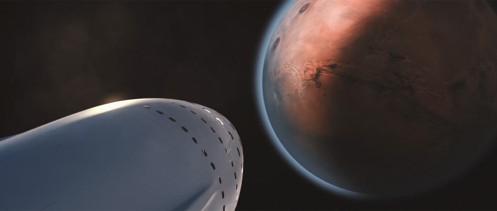 An artist's impression of SpaceX's approach to Mars | Courtesy of SpaceX