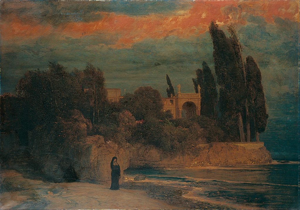 Villa by the Sea by Arnold Böcklin / Wikimedia Commons