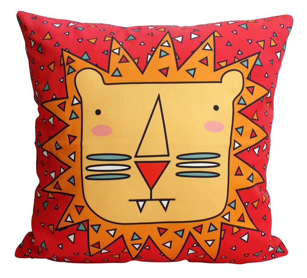 Big 5 Lion cushion cover from Handmade by Me © Courtesy of Handmade by Me