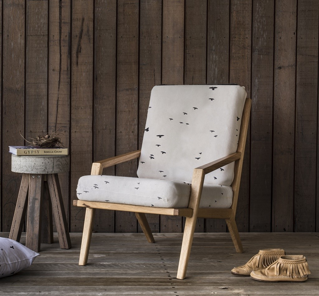 Bird fabric chair © Courtesy of Love Milo